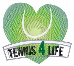 Tennis 4 Life embroidery design