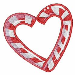 Candy Cane Heart embroidery design