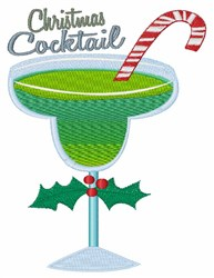 Christmas Cocktail embroidery design