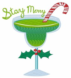 Stay Merry embroidery design