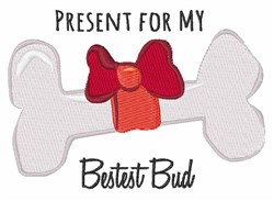 Present For Bud embroidery design