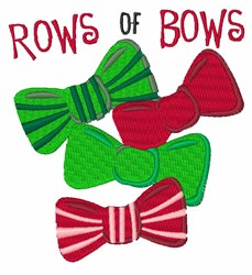 Rows Of Bows embroidery design