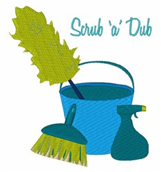 Scrub A Dub embroidery design