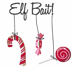 Elf Bait embroidery design