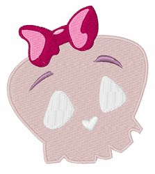 Girly Skull embroidery design