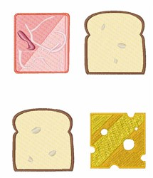 Ham Sandwich embroidery design