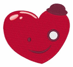 Smiley Heart embroidery design