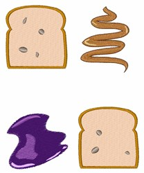 PB & J Sandwich embroidery design