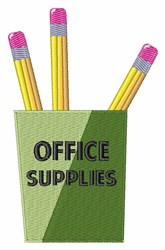 Office Supplies embroidery design