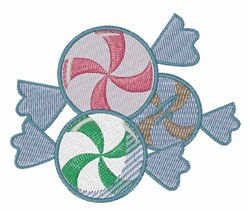 Peppermint Candies embroidery design