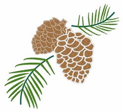 Pine Cone embroidery design
