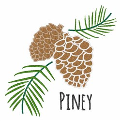 Piney Cone embroidery design