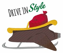 Drive In Style embroidery design