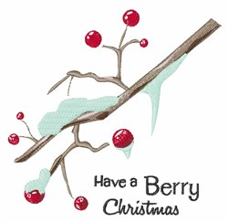 Berry Christmas embroidery design