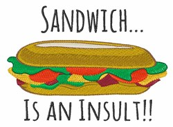 Insult Sandwich embroidery design
