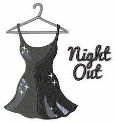 Night Out embroidery design