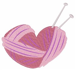 Knitting Heart embroidery design