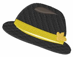 Bowler Hat embroidery design