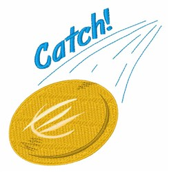 Catch Frisbee embroidery design
