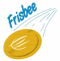 Frisbee Toss embroidery design