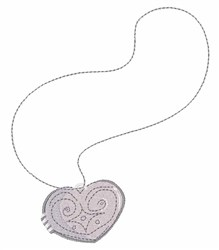 Heart Pendant embroidery design
