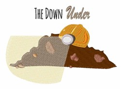 The Down Under embroidery design