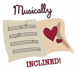 Musically Inclined embroidery design