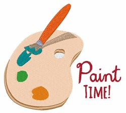 Paint Time embroidery design