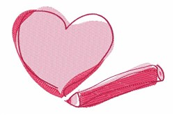 Sketch Heart embroidery design