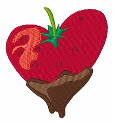Chocolate Strawberry embroidery design