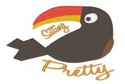 Sitting Pretty embroidery design