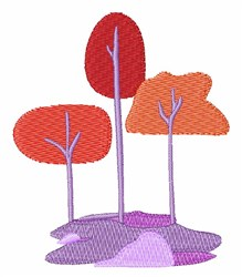 Landscape Trees embroidery design