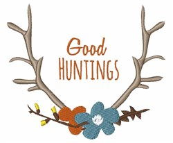 Good Huntings embroidery design