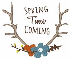 Spring TIme Coming embroidery design
