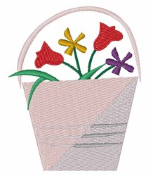 Flower Bucket embroidery design