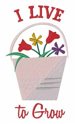 Live To Grow embroidery design