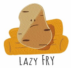 Lazy Fry embroidery design