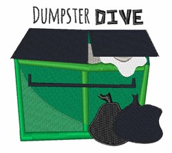 Dumpster Dive embroidery design