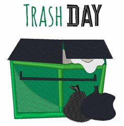 Trash Day embroidery design