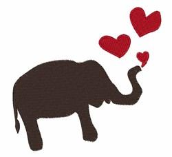 Valentine Elephant embroidery design