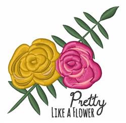 Pretty Like Flower embroidery design
