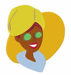 Spa Lady embroidery design