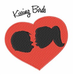 Kissing Birds embroidery design