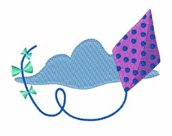 Kite In Cloud embroidery design