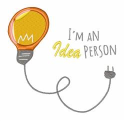 Idea Person embroidery design