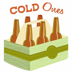Cold Ones embroidery design