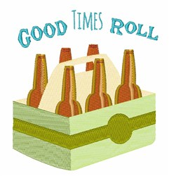 Good Time Roll embroidery design