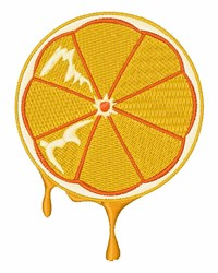 Orange Slice embroidery design