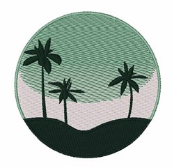 Island Scene embroidery design