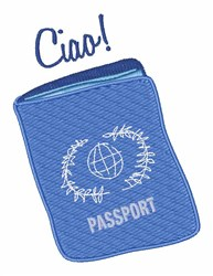 Ciao Passport embroidery design